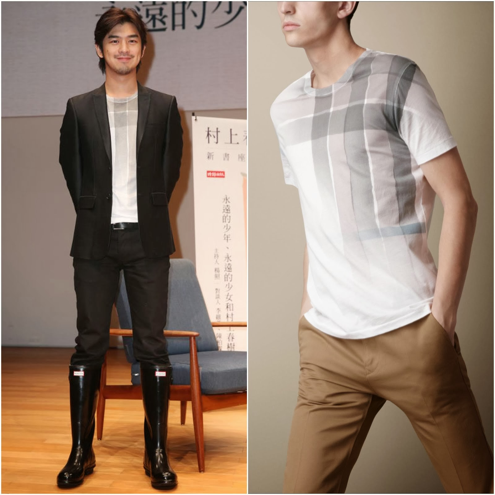 00O00 Menswear Blog: Wilson Chen Bolin in Burberry - Haruki Murakami Book Launch 陈柏霖出席村上春树新书座谈会