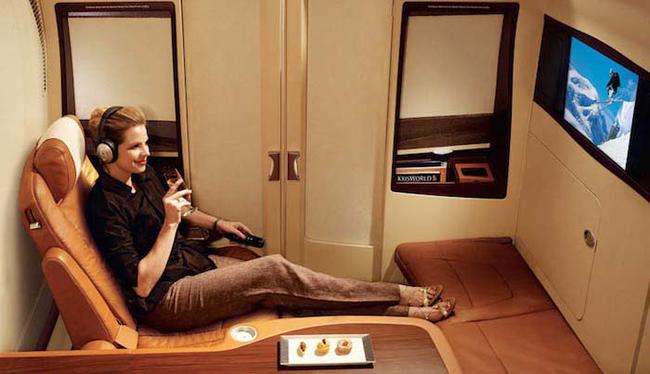 avion con suite privada