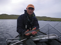 A trout on my first cast in Shetland - you can't better that!