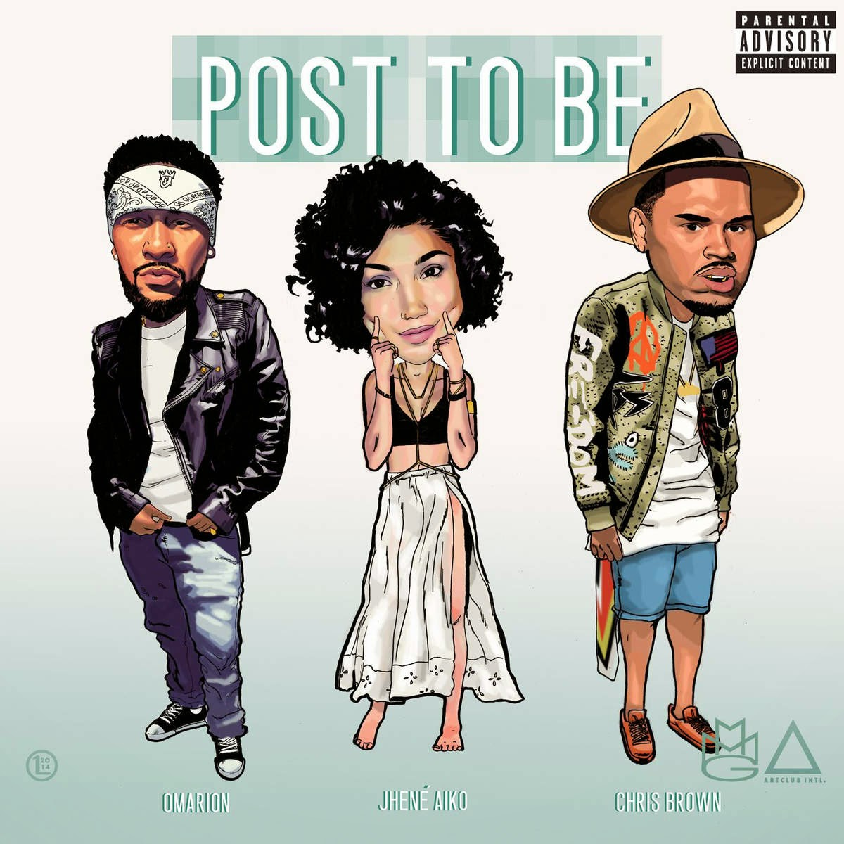 Omarion - Post To Be (feat. Chris Brown & Jhene Aiko) - Single Cover