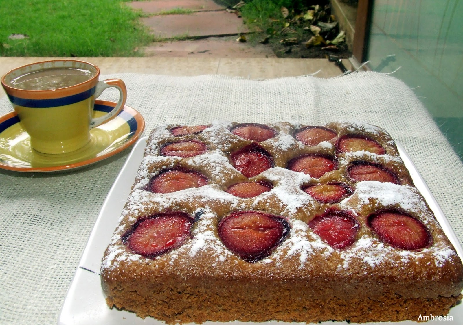 AMBROSIA: Dimply Plum Cake
