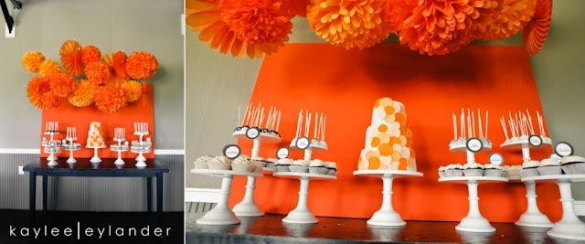 paper fans/rosettes collage 3