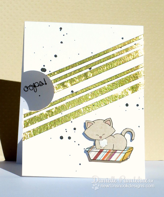 oops card with Naughty Kitty by Danielle Pandeline | Naughty Newton Stamp set by Newton's Nook Designs
