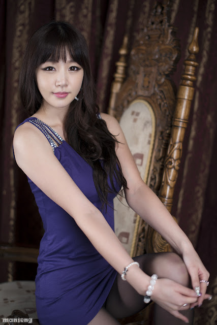 5 Hong Ji Yeon in Purple-Very cute asian girl - girlcute4u.blogspot.com