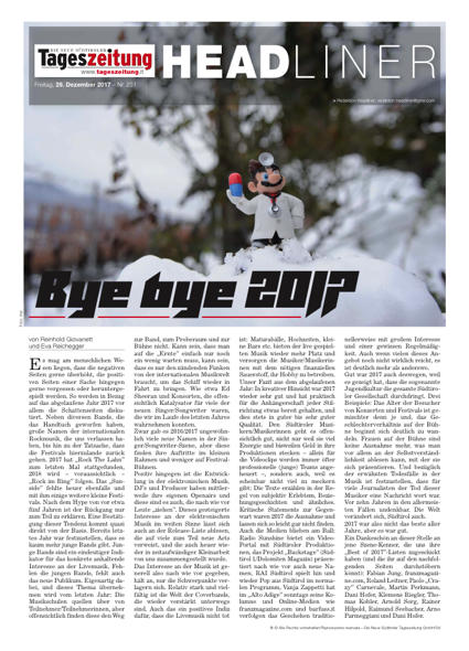 "Headliner #478 - ""Bye bye 2017"""