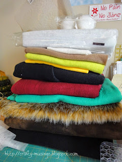 stack of fleece, foam, and fur