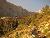 Early morning light at Mount Whitney Trail