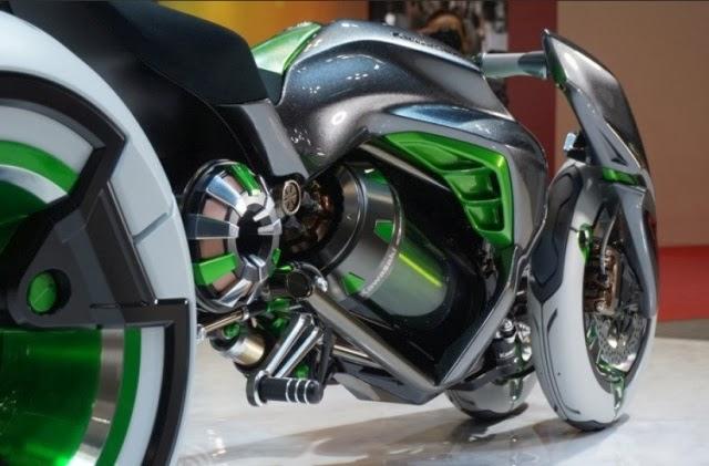 """Gambar Motor Kawasaki J """"Radical Cyberpunk Anime"""""""