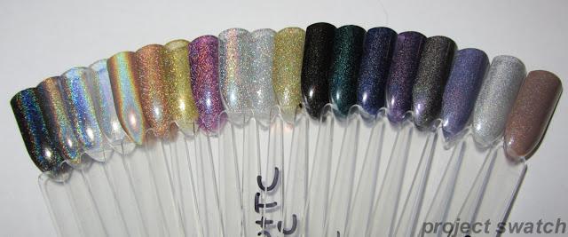 Holo Nail polish swatch sticks