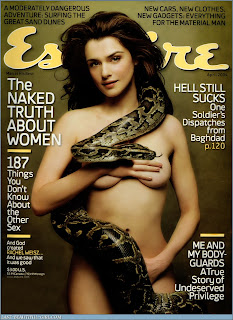 In addition to acting  she has been a fashion model and cover girl Rachel Weisz Esquire Cover
