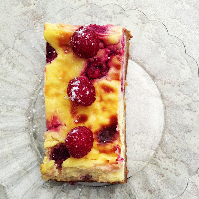 raspberry French cheesecake