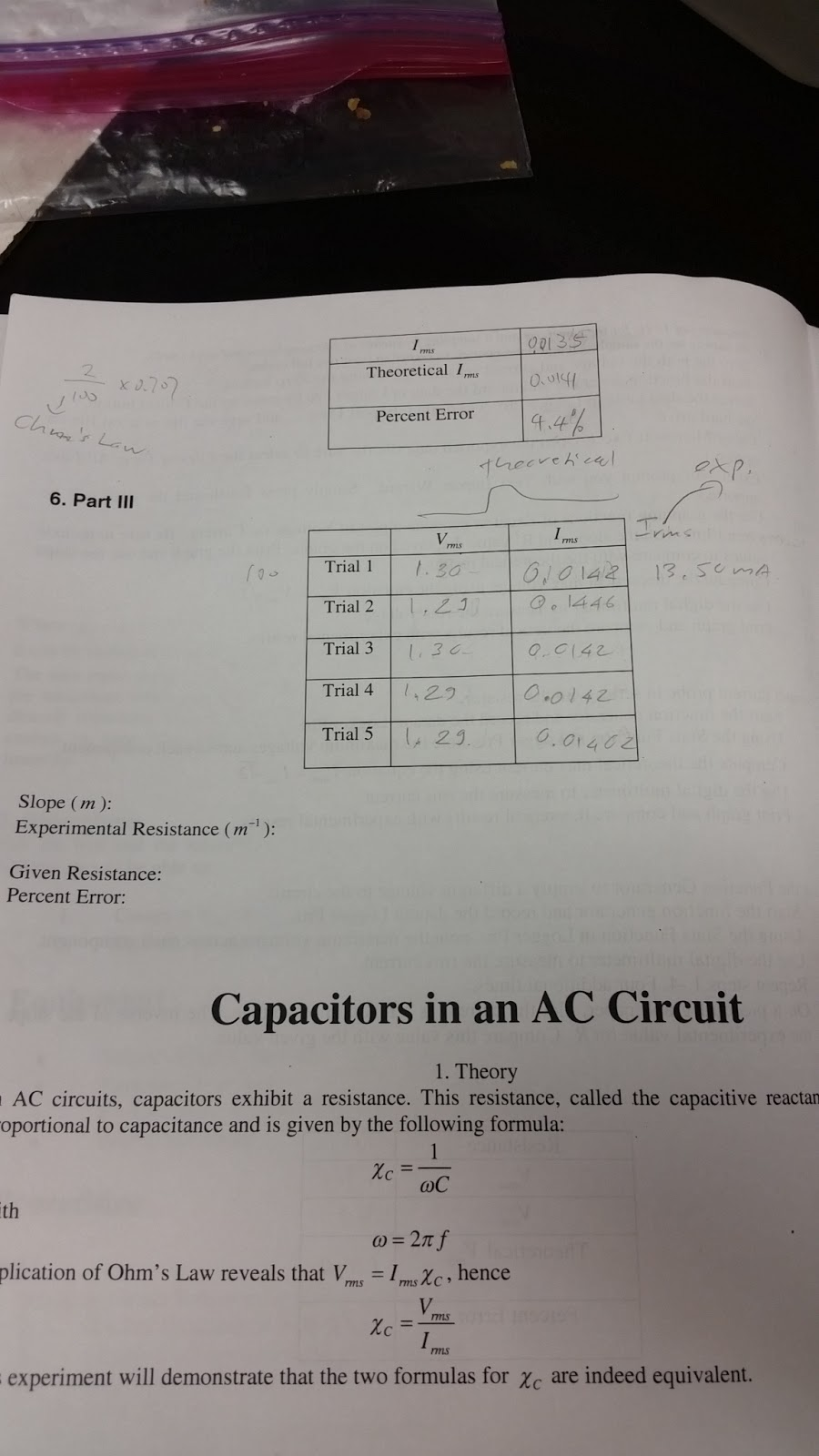 Electronics 10 Zhong 2015 Formula For Current In An Ac Circuit Here Are Our Results The Experiment Was Done 5 Times We Calculated Vmax By Looking At Statistics Of Graph Vrms Use Root2