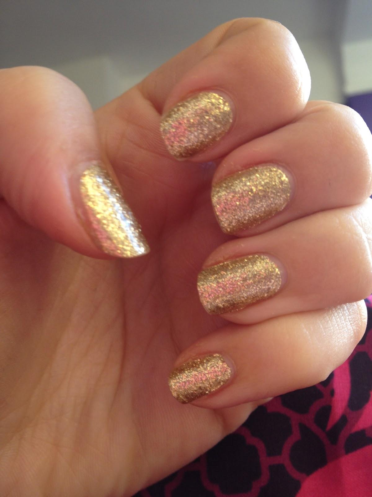 Sally Hansen Gold Glitter Nail Wraps
