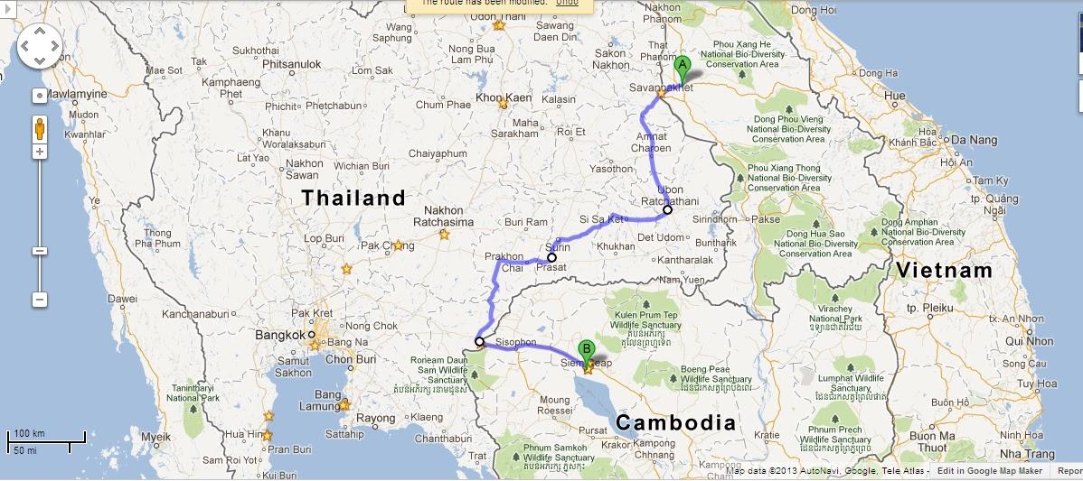 KEMBARA DANA MADRASAH KEMBOJA ROUTE TO THAILAND LAOS AND KEMBOJA