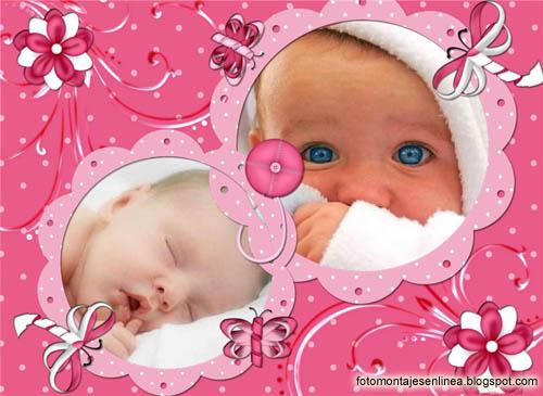 Fotomontajes online marco para fotos de beb - Marcos fotos bebes ...
