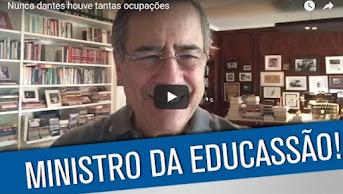 Vídeo: A escolha entre Mendonça Filho/Alexandre Frota e os estudantes que lutam contra o golpe