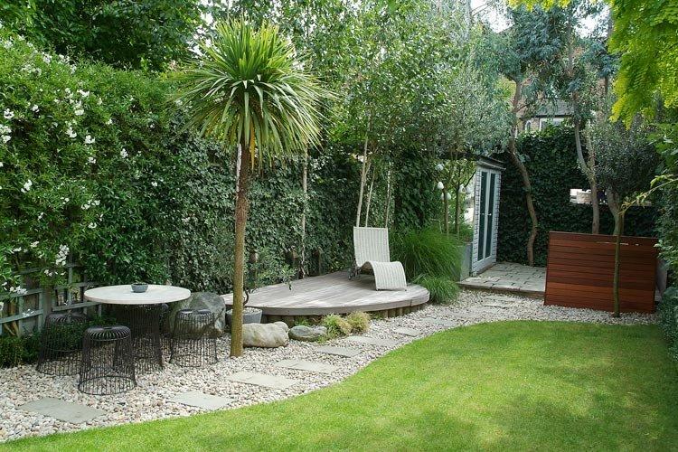 Casas minimalistas y modernas exteriores y jardines for Jardines de patios modernos