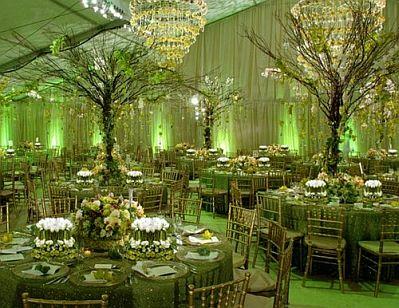 bodas salones decorados de verde - Imagenes De Salones Decorados