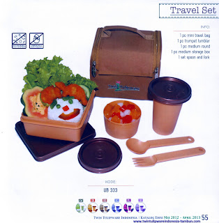 Info & Harga Twin Tulip Tulipware 2014 : Travel Set