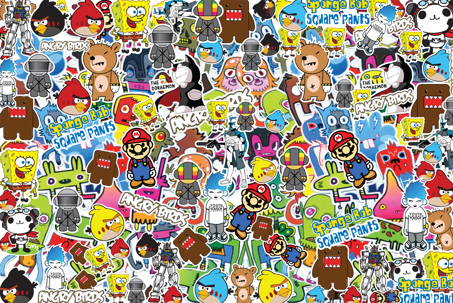 sticker bomb wallpaper cartoon - photo #30