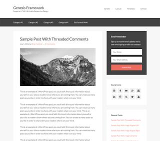 Genesis Framework Theme