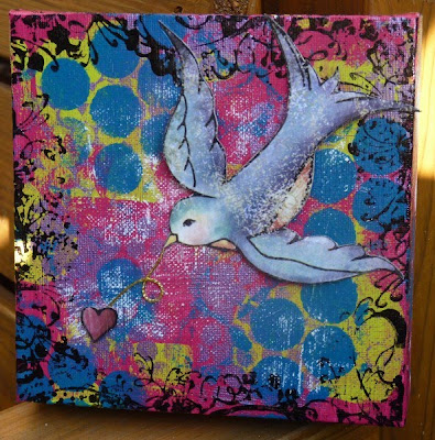 Whoopidooings - Carmen Wing: Birdy Graffiti Canvas
