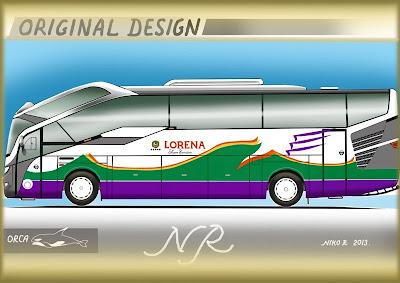 Design bus 3D Orca Livery PO Lorena