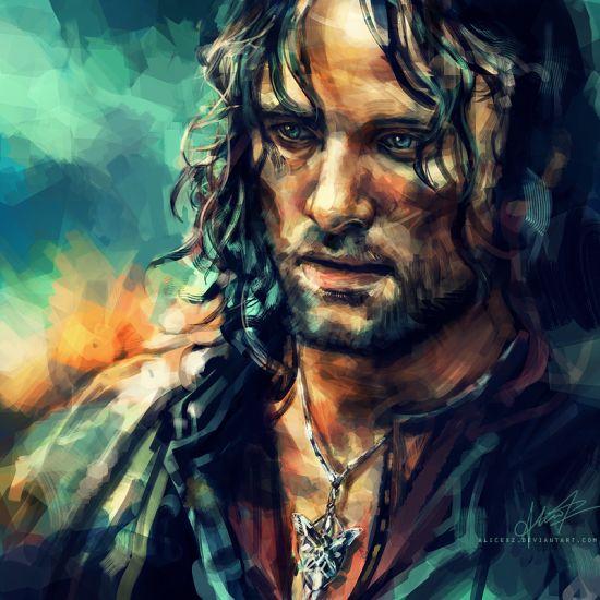 Alice X. Zhang alicexz deviantart pinturas de filmes séries Aragorn - Senhor dos Anéis