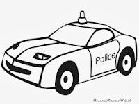 Halaman Mewarnai Gambar Mobil Polisi
