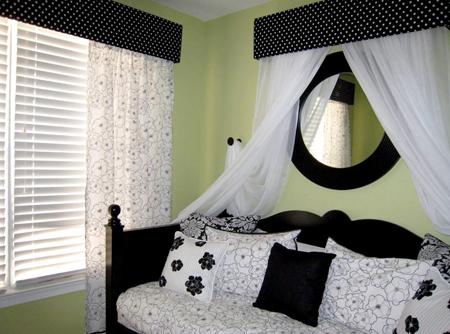 Interior design 2013 dise o de dormitorios peque os en colores blanco y negro - Disenos de dormitorios pequenos ...
