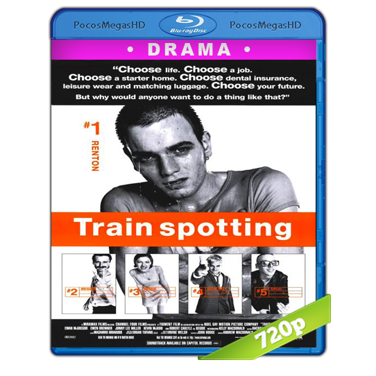 Trainspotting (1996) BrRip 720p Castellano/Inglés AC3+subs