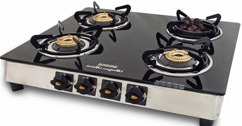 charming Indian Kitchen Appliances #2: As there is lot of cooking is done in Indian kitchen, hence 4 burner gas  stove is the best gas stove to serve the Indian cooking.