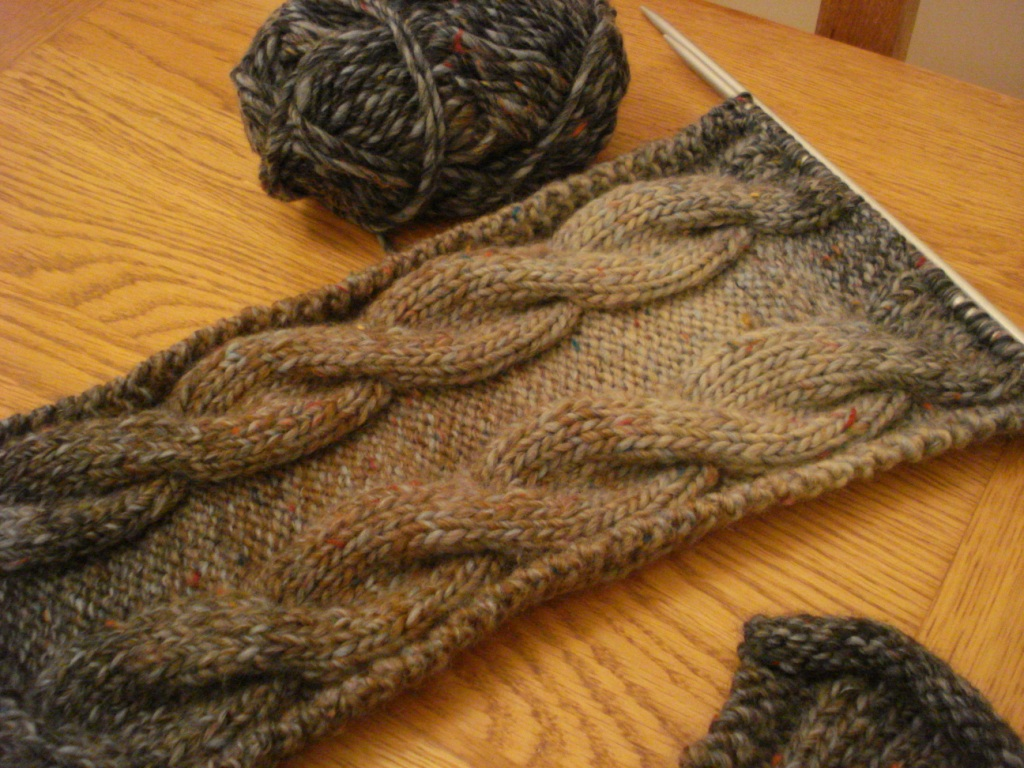 Eight-by-Six: easy cable scarf pattern (Easy Knits for Little Kids by Catheri...