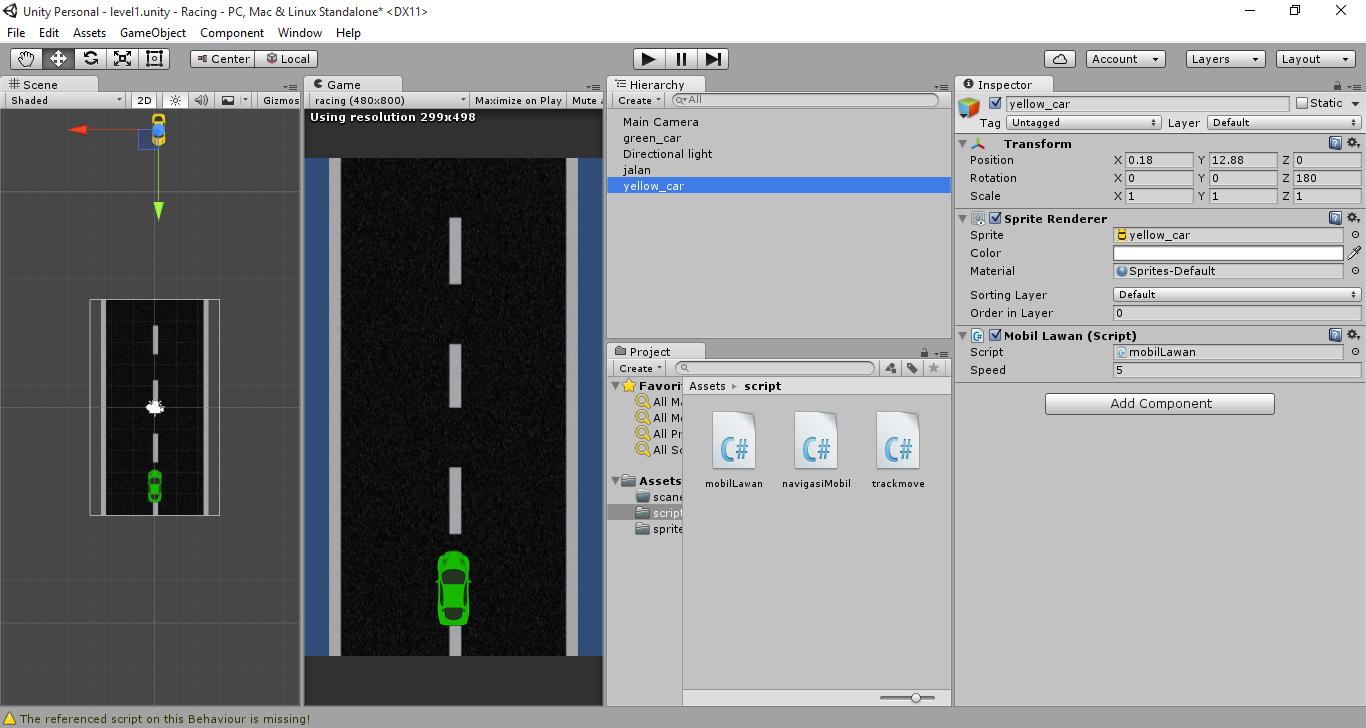 Membuat Game racing 2D dengan Unity part 2 (Lawan dan ...