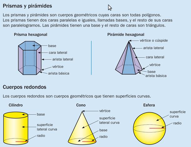 CIFRAS Y LETRAS: Cuerpos geométricos (4º)