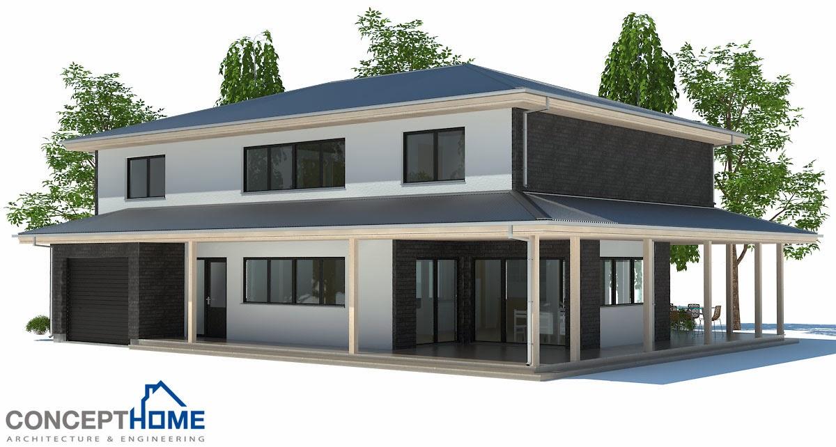 Plantas de casas modernas planta de casa moderna ch179 for Plantas de viviendas modernas