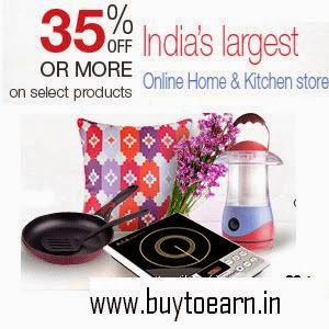 Amazon: Buy Home & Kitchen Clearance Sale upto 70% off  on 4th Jan to 10th Jan 2016: Buy To Earn