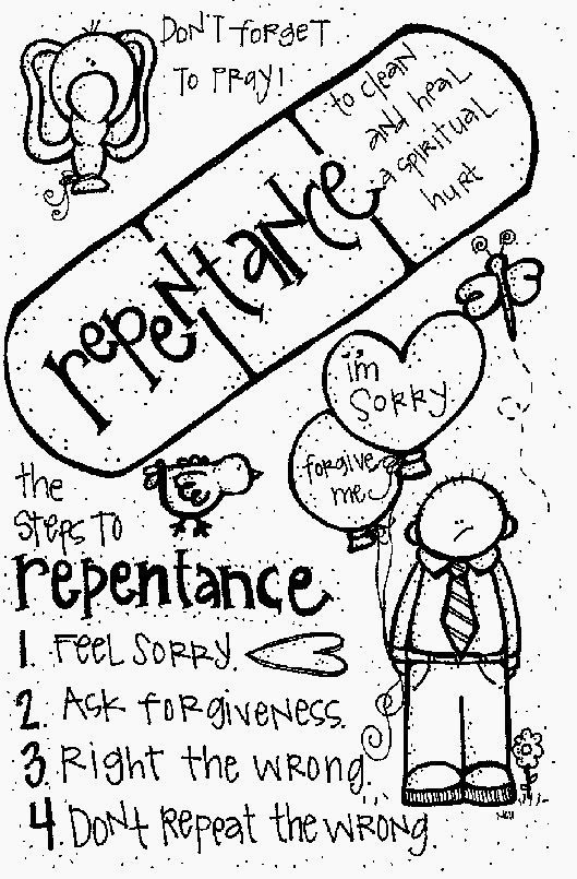 Repentance Coloring Page