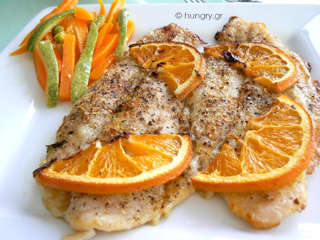 Fish Fillet with Orange Sauce