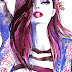 Fashion Illustration of the model Hanna Verhees