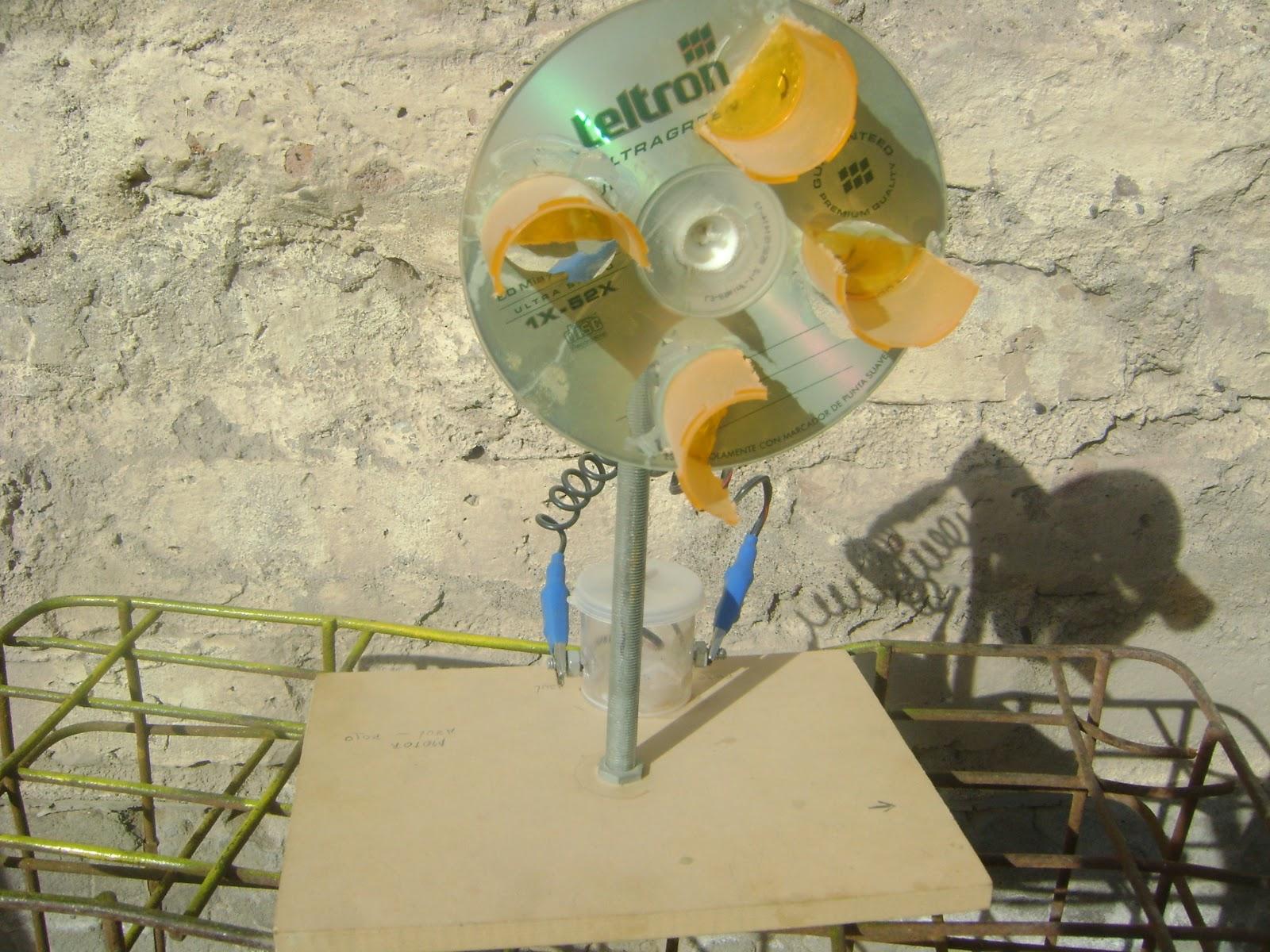 Molino e lico generador casero taller de ciencias de for Como hacer molinos de viento para el jardin