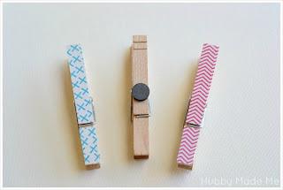 Pinzas de la ropa para la nevera en Recicla Inventa