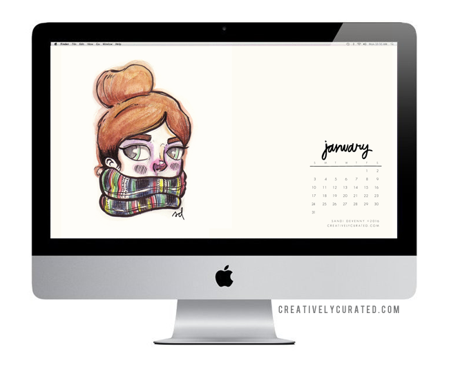 Free Desktop via CreativelyCurated.com © Sandi Devenny #Free #Desktop #Download #art #sandidoodles
