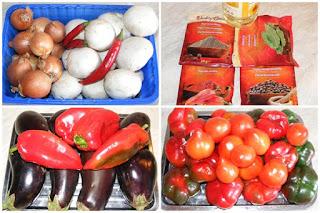 legume, ingrediente necesare pentru zacusca de vinete traditionala preparata din ardei gogosari si ciuperci, retete culinare,