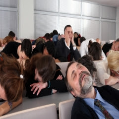 audience sleeping