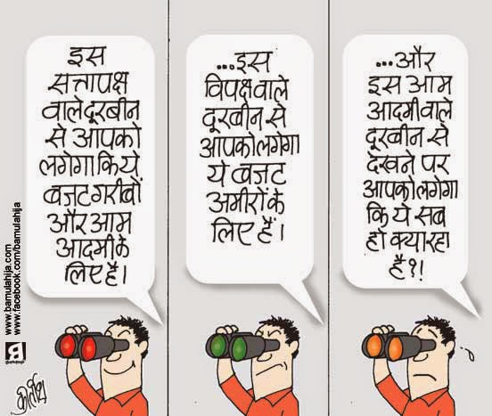 budget cartoon, nda government, common man cartoon, cartoons on politics, indian political cartoon