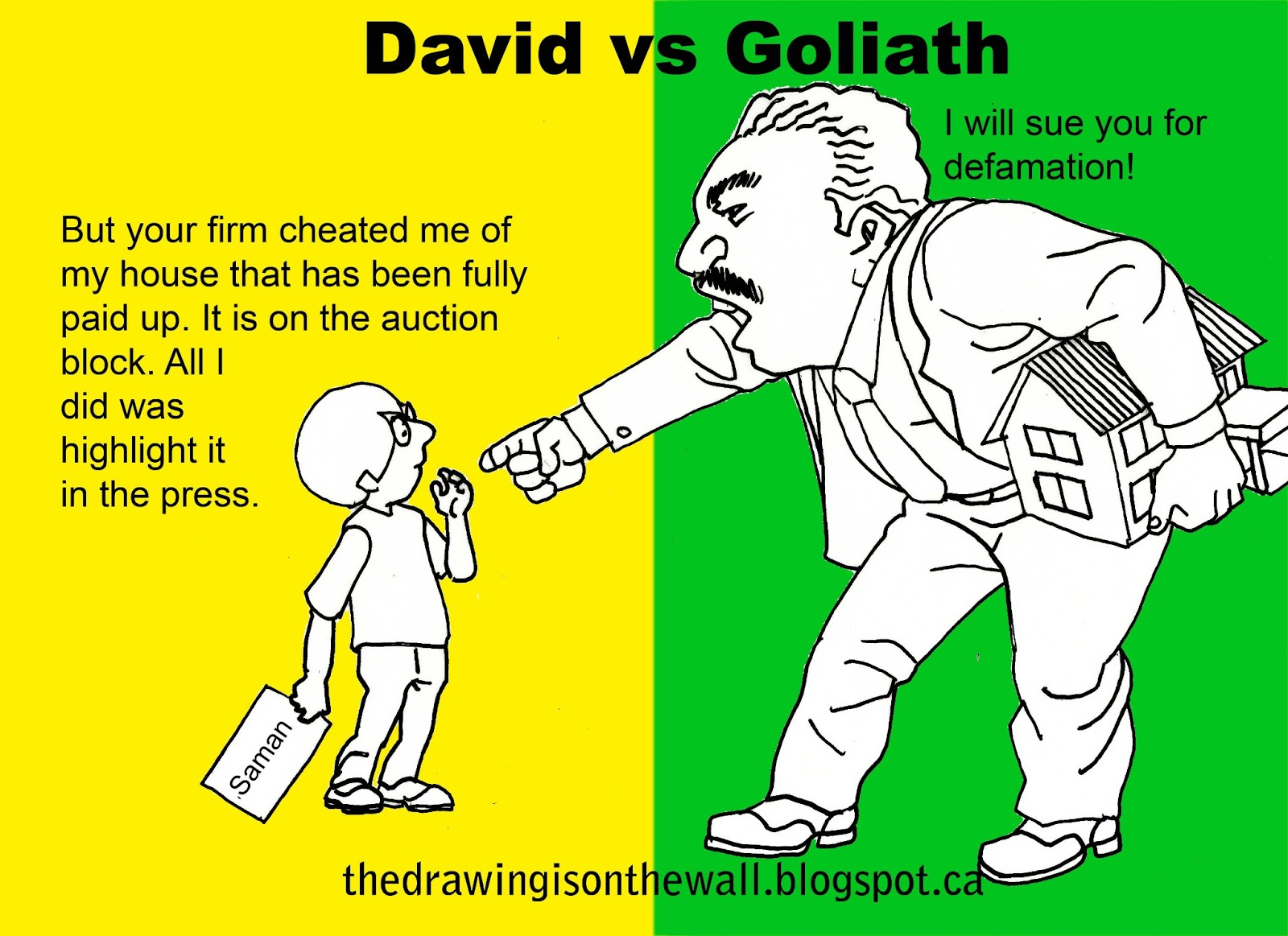 David vs Goliath   The Drawing Is On The Wall