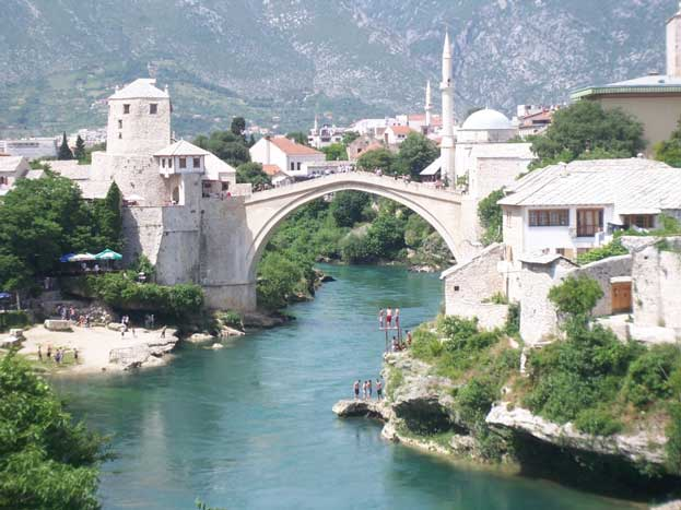 Bridge Area of the Old City of Mostar