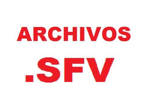 Archivos de comprobacion .SFV
