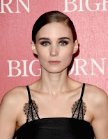 The Girl With the Dragon Tattoo actress Rooney Mara in a lace detail cocktail dress at 2016 Palm Springs International Film Festival red carpet dresses